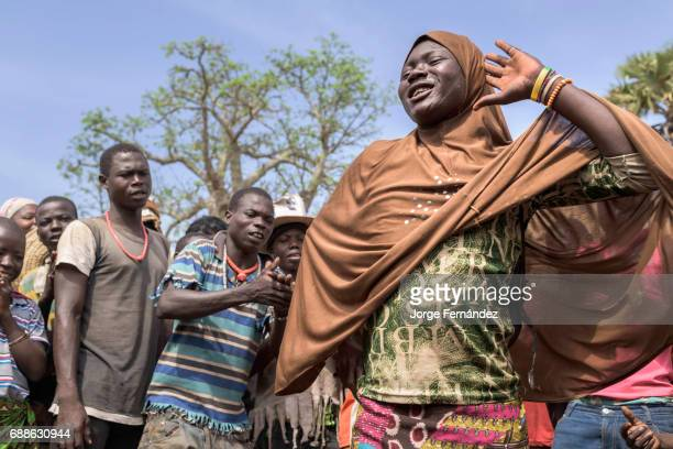 During the circumcision ceremony in Yaka there is a lot of music and some boys dressed as women dance for the amusement of all the participants