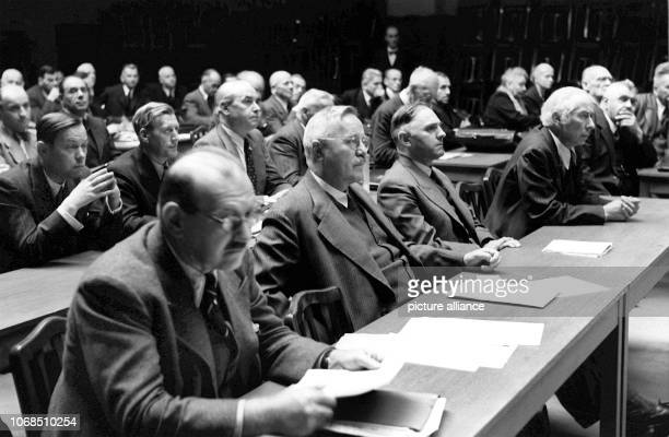 During the debate on the occasion of the last constitutional convention of Württemberg-Baden on October 8, 1946 at the Furtbachhaus in Stuttgart:...