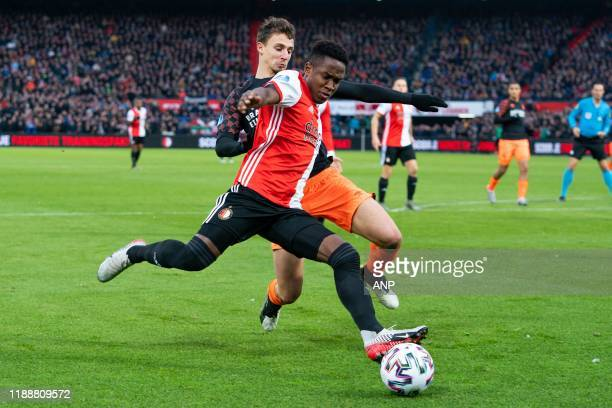 during the Dutch Eredivisie match between Feyenoord Rotterdam and PSV Eindhoven at De Kuip on December 15 2019 in Rotterdam The Netherlands