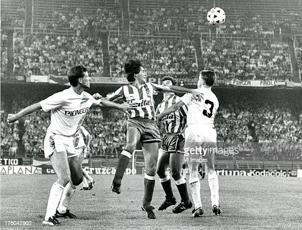 during the Europa Cup 3 match between Atletico Madrid and FC Groningen on october 5 1988 in Madrid The Netherlands