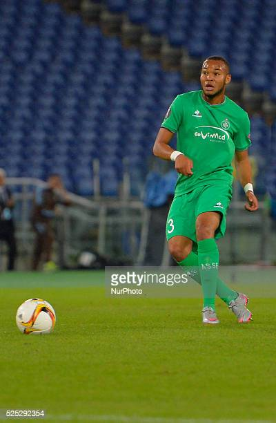 during the Europe League football match SS Lazio vs AS Saint��tienne at the Olympic Stadium in Rome on october 01 2015