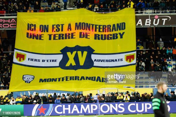 during the European Rugby Champions Cup Pool 3 match between ASM Clermont Auvergne and Harlequin FC on November 16 2019 in ClermontFerrand France