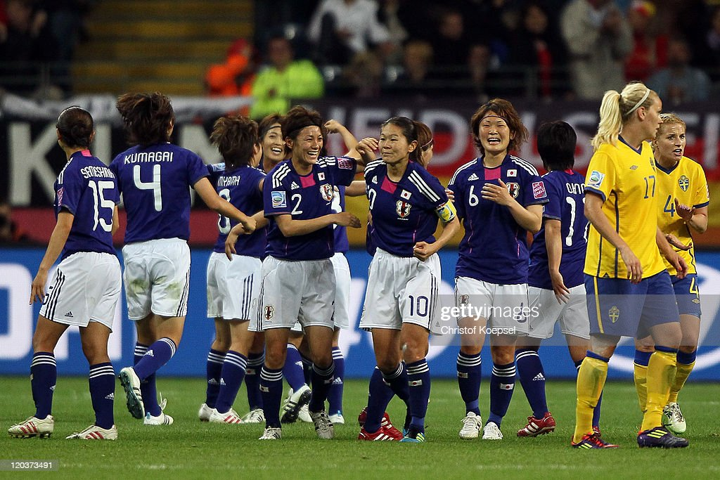 during the FIFA Women's World Cup Semi Final match between Japan and Sweden at the FIFA World Cup stadium Frankfurt on July 13, 2011 in Frankfurt am Main, Germany.