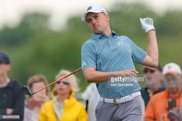 during the final round of the 50th annual ATT Byron Nelson on May 20 2018 at Trinity Forest Golf Club in Dallas TX