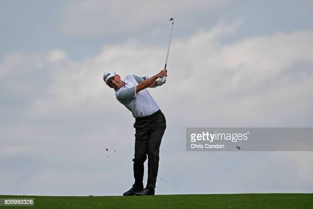 during the final round of the PGA TOUR Champions DICK'S Sporting Goods Open at EnJoie Golf Course on August 20 2017 in Endicott New York