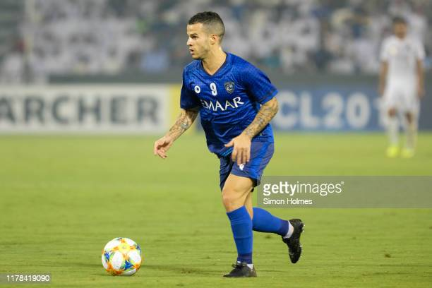 during the first leg of the AFC Champions League semi finals between Al Sadd and AlHilal at the Jassim Bin Hamad Stadium on 1st of October 2019 Doha...