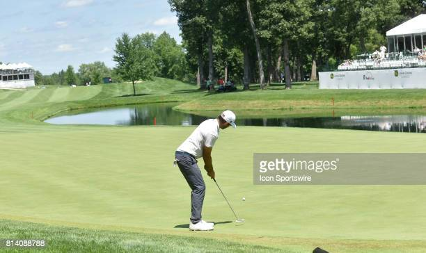 during the first round of the John Deere Classic July 13 at TPC Deere Run Silvis IL