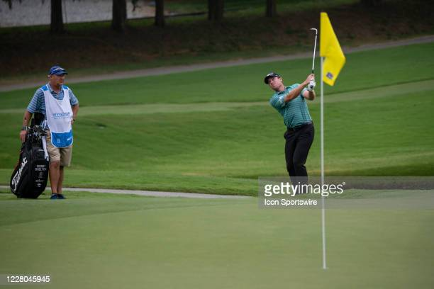 During the first round of the Wyndham Championship golf tournament at Sedgefield Country Club in Greensboro, NC on August 13, 2020.
