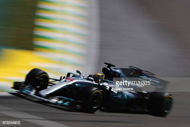 during the Formula One Grand Prix of Brazil at Autodromo Jose Carlos Pace on November 12 2017 in Sao Paulo Brazil