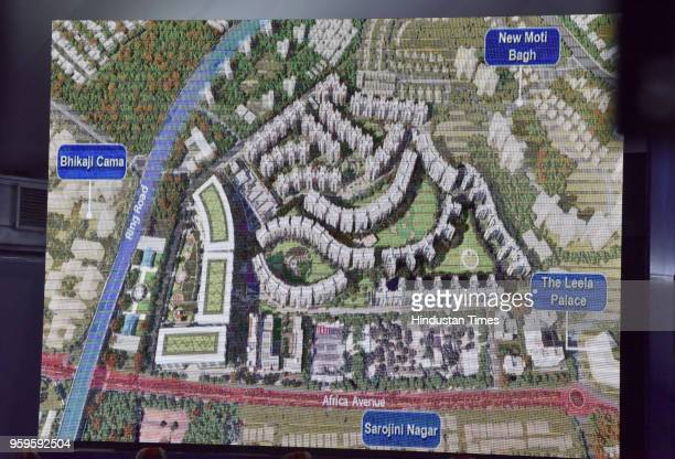During the foundation stone laying ceremony of World Trade Centre at Nauroji Nagar and redevelopment of GPRA colony at Netaji Nagar a top view of it...