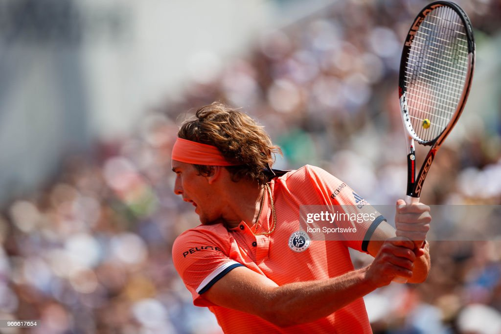 during the French Open on June 03 2018, at Stade Roland-Garros in Paris, France.