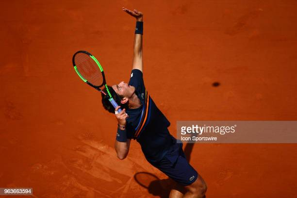 during the French Open on May 27 2018 at Stade RolandGarros in Paris France