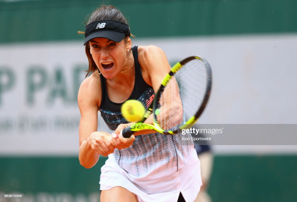 during the French Open on May 29, 2018 at Stade Roland-Garros in Paris, France.