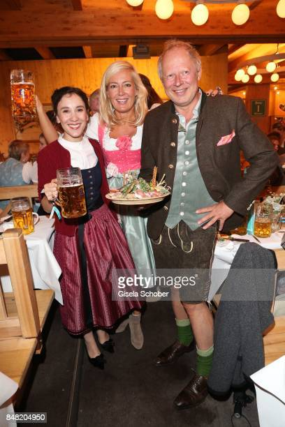 During the 'Fruehstueck bei Tiffany' at Schuetzenfesthalle at the Oktoberfest on September 16, 2017 in Munich, Germany.