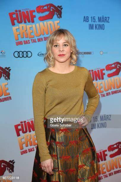 During the 'Fuenf Freunde und das Tal der Dinosaurier' premiere at Mathaeser Kino on March 4, 2018 in Munich, Germany.