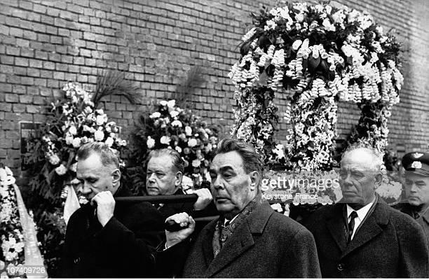 During The Funeral Of SpacePilot Yuri Gagarin
