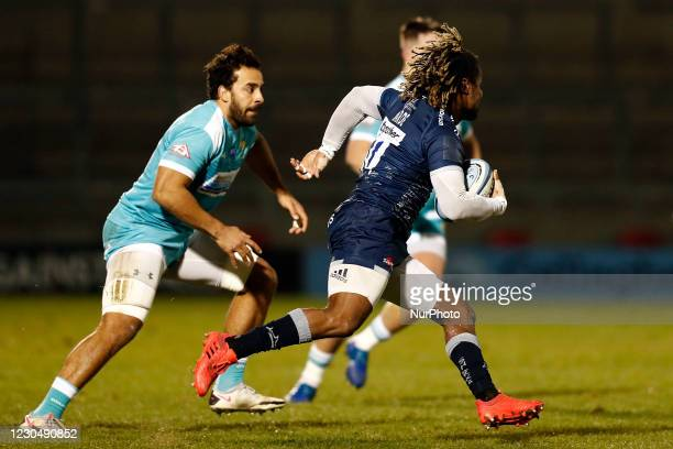 During the Gallagher Premiership match between Sale Sharks and Worcester Warriors at AJ Bell Stadium, Eccles on Friday 8th January 2021.