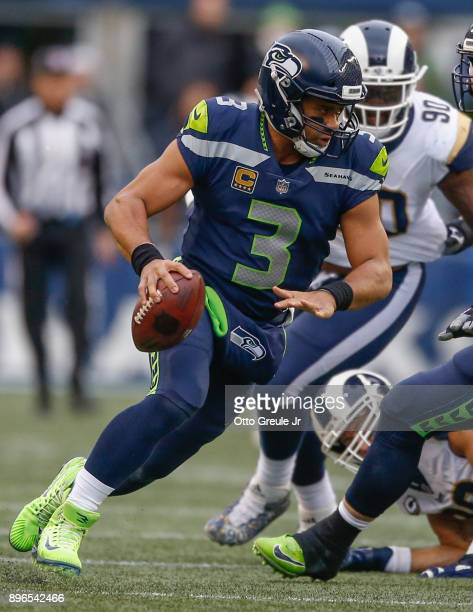 During the game at CenturyLink Field on December 17, 2017 in Seattle, Washington.