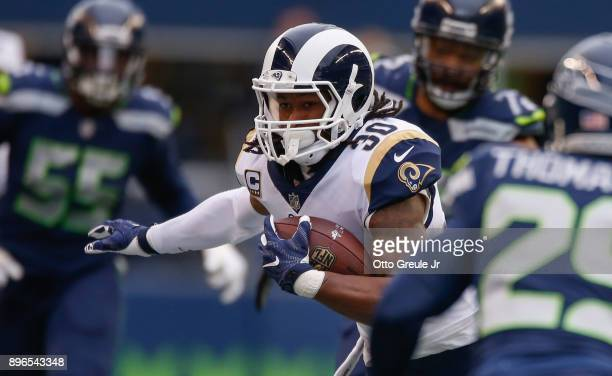 during the game at CenturyLink Field on December 17 2017 in Seattle Washington
