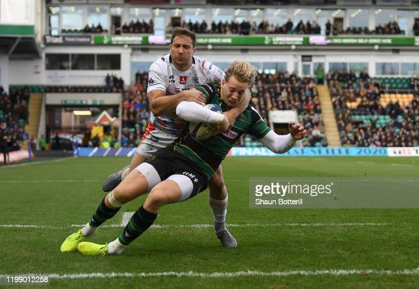 During the Heineken Champions Cup Round 5 match between Northampton Saints and Benetton Rugby at Franklin's Gardens on January 12, 2020 in...