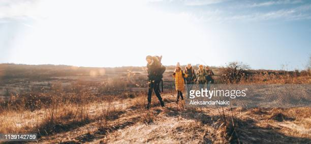 during the hike - simple living stock pictures, royalty-free photos & images