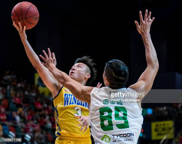 AAA during the Hong Kong Basketball League playoff game between Tycoon and Winling at Queen Elizabeth Stadium on July 27 2018 in Hong Kong