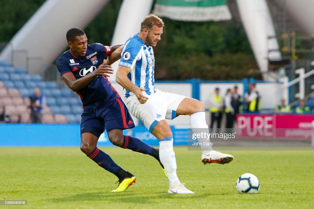 during the Huddersfield Town v Olympique Lyonnais - Pre-Season Friendly at John Smith's Stadium on July 25, 2018 in Huddersfield, England.