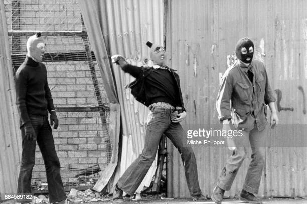 During the hunger strike by IRA members held in Maze prison, there was violent rioting in the streets of Belfast.