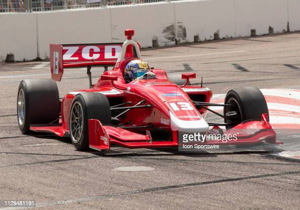 during the Indy Lights Race of St Petersburg on March 9 at the Streets of St Petersburg in St Petersburg FL