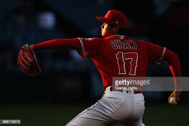 during the inning of a game at Angel Stadium on June 6 2018 in Anaheim California
