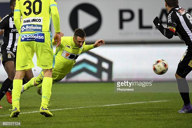 during the Jupiler Pro League match between KAA Gent and R Charleroi SC on January 20 2017 in Ghent Belgium