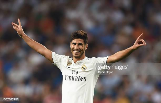 during the La Liga match between Real Madrid CF and RCD Espanyol at Estadio Santiago Bernabeu on September 22 2018 in Madrid Spain