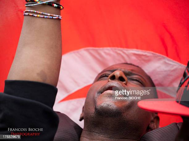 During the labor day in Tunisia, black community organized a march to protest against racism in Tunisia.
