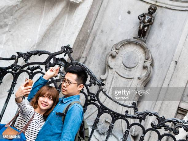 During the last days of May around a thousands of tourists enjoy the city of Brussels Belgium on 28 May 2017 Daily life in Brussels is always...