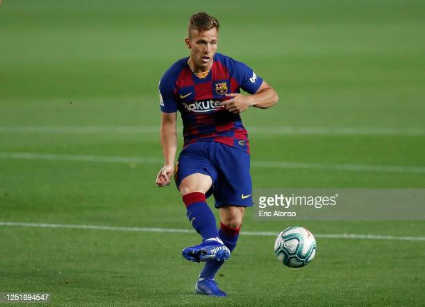 During the Liga match between FC Barcelona and Athletic Club at Camp Nou on June 23, 2020 in Barcelona, Spain.