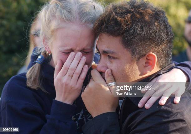 During the March for Life on the 29th anniversary of Roe vs Wade Erica Cagle and Andy Agcaoili both of Tampa Fla break down after hearing the story...