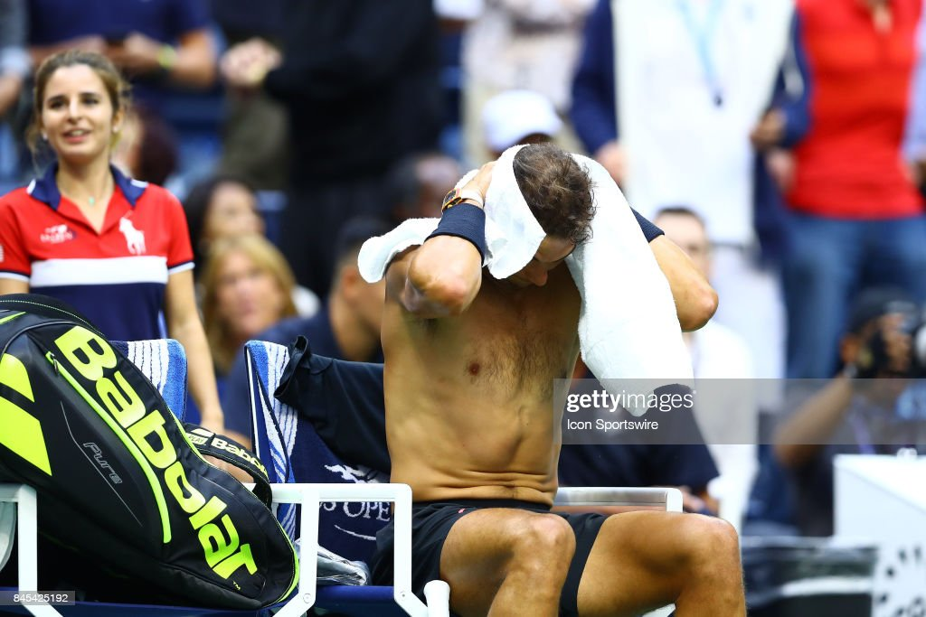 during the men's final of the 2017 US Open on September 10, 2017 at Billie Jean King National Tennis Center, Flushing Meadow, NY.