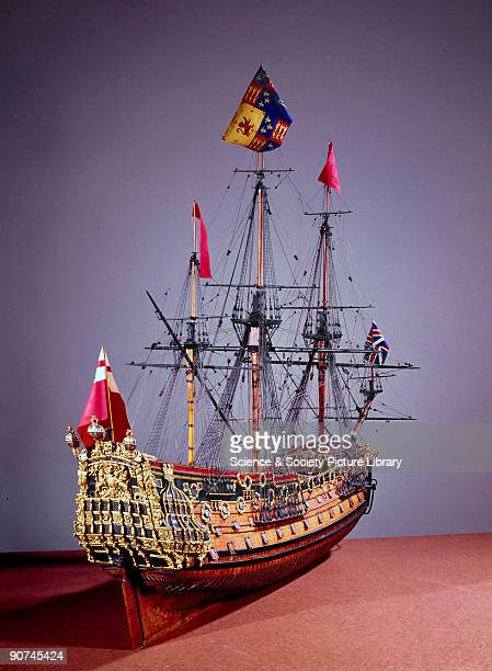 During the mid 17th century the practice was introduced of making an official scale model of each important warship built in Britain at the same time...