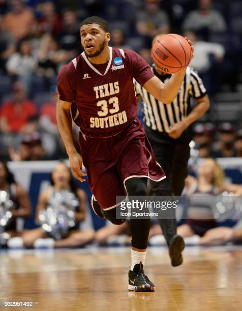 During the NCAA Division I Men's Championship First Round game between the Texas Southern Tigers and the Xavier Musketeers on March 16, 2018 at...