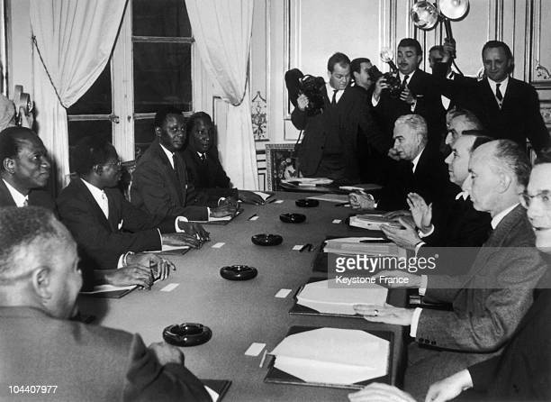 During the negotiations between France and Mali regarding the political independence of Mali from left to right president of the Malian Republic...