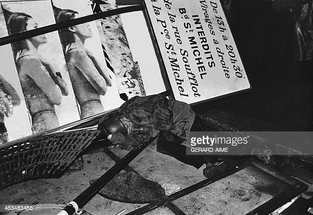 During the night behind a barricade at the Quartier Latin in Paris France on May 23 1968