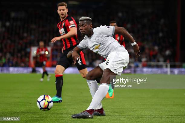 XXX during the Premier League match between AFC Bournemouth and Manchester United at Vitality Stadium on April 18 2018 in Bournemouth England