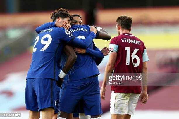 during the Premier League match between Burnley and Chelsea at Turf Moor Burnley on Saturday 31st October 2020