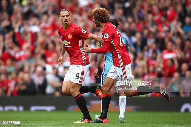 during the Premier League match between Manchester United and Manchester City at Old Trafford on September 10 2016 in Manchester England