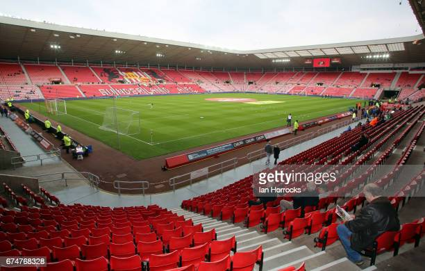 during the Premier League match between Sunderland AFC and AFC Bournemouth at Stadium of Light on April 29 2017 in Sunderland England