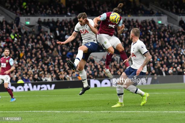 during the Premier League match between Tottenham Hotspur and Burnley at White Hart Lane London on Saturday 7th December 2019