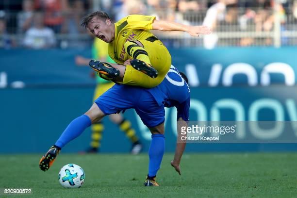 during the preseason friendly match between VfL Bochum and Borussia Dortmund at Vonovia Ruhrstadion on July 22 2017 in Bochum Germany