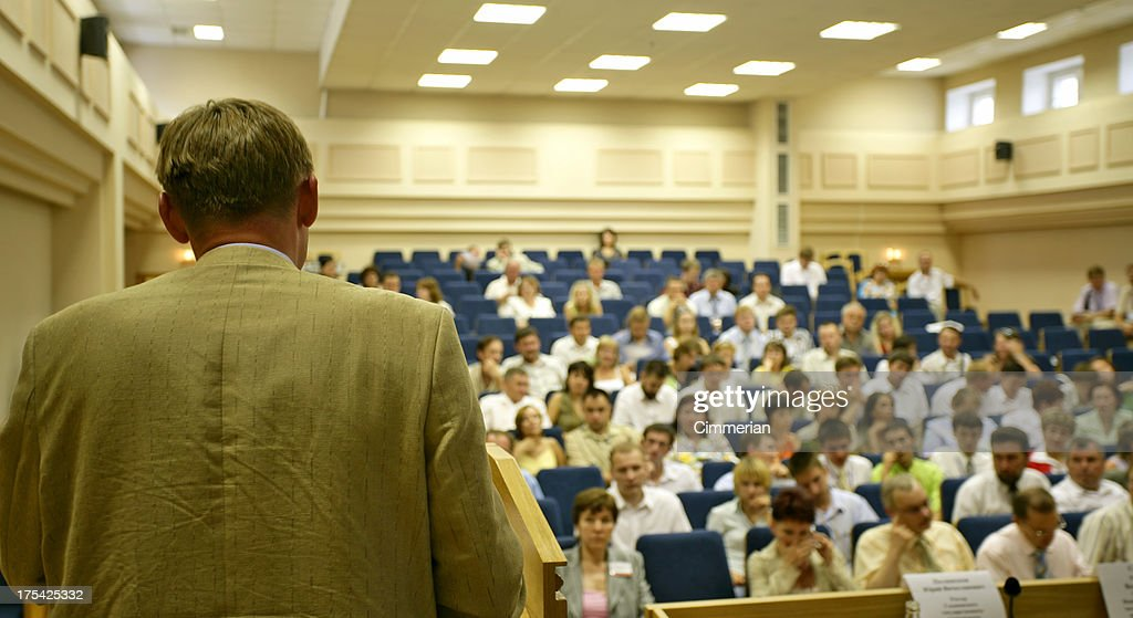 During the presentation : Stock Photo