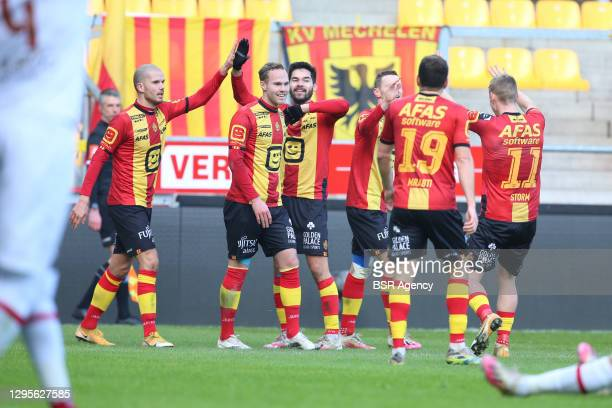 During the Pro League match between KV Mechelen and Royal Antwerp FC at Afas Stadium on January 10, 2021 in Mechelen, Belgium