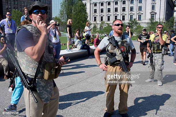 During the Republican Convention set to nominate Donald Trump Second Amendment activists exercise their legal right in the state of Ohio to bear arms...